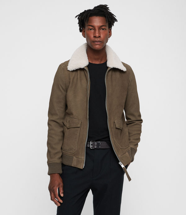 reed nubuck aviator coat