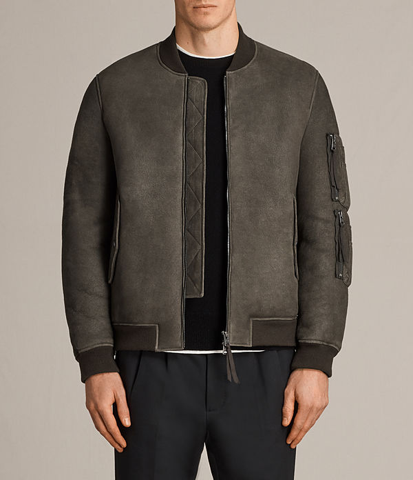 rogan shearling bomber jacket