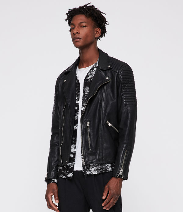 estello leather biker jacket