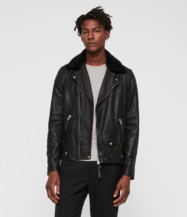 brett leather biker jacket