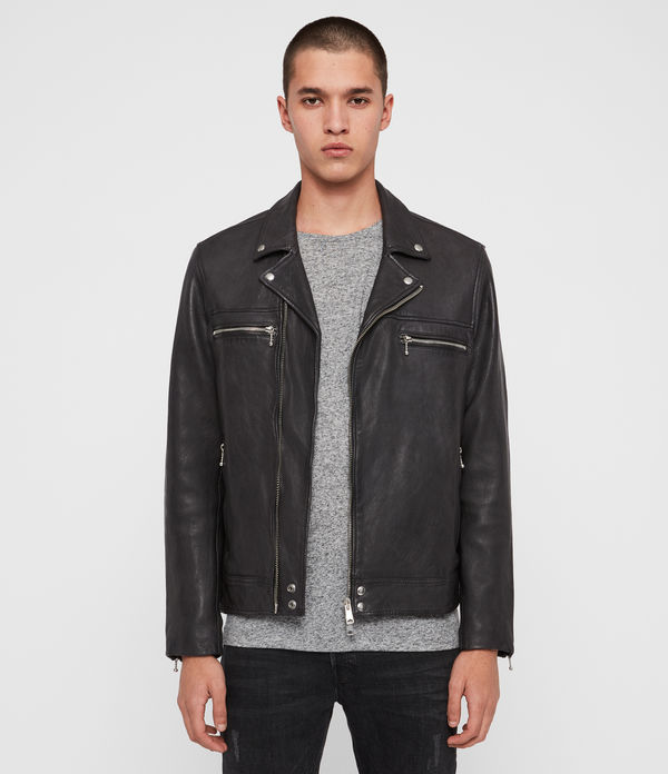 hearn leather biker jacket