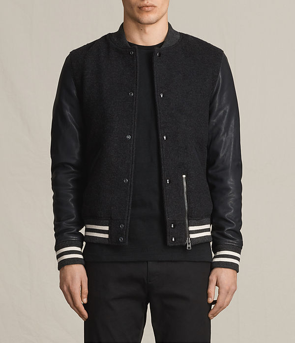 Campbell Leather Bomber Jacket