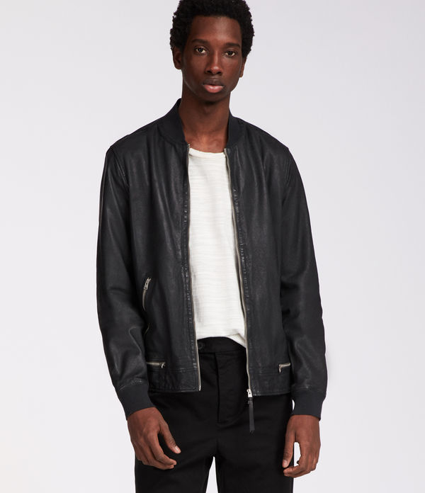 madden leather bomber jacket