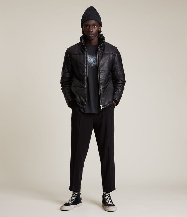 Coronet Leather Puffer Jacket