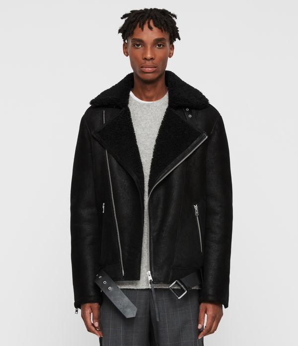byward shearling biker jacket