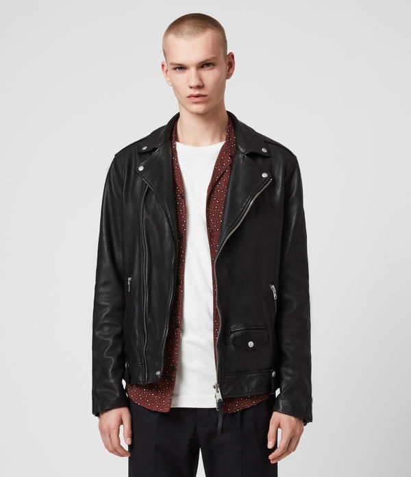 hedworth leather biker jacket