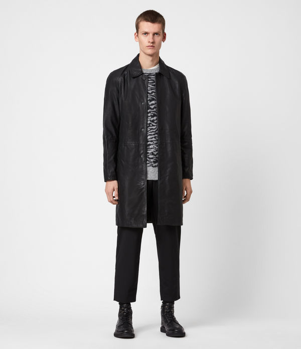 Ireton Leather Trench Coat