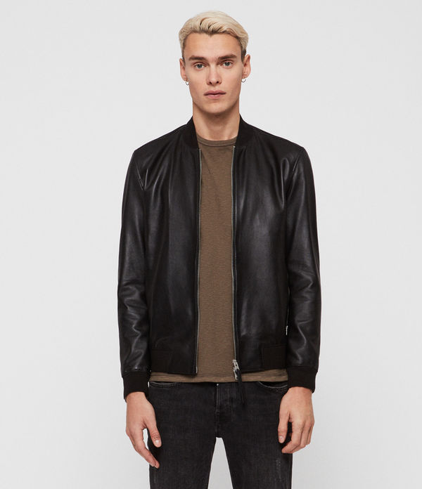Mower Leather Bomber Jacket
