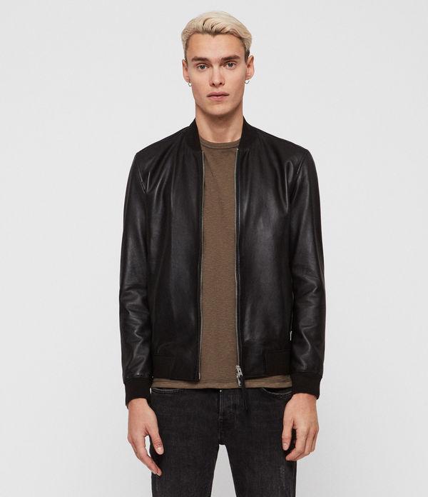 Mower Leather Bomber Jacket
