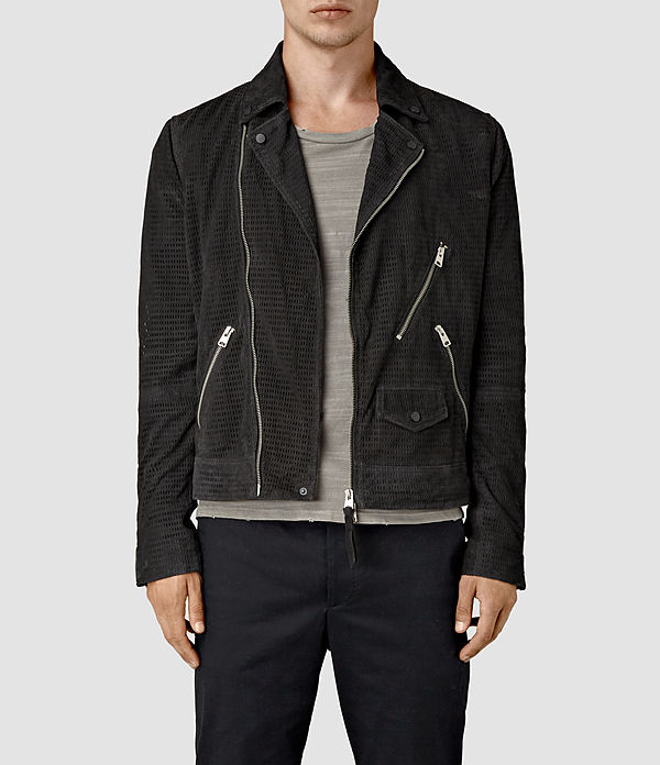 miller perforated suede biker