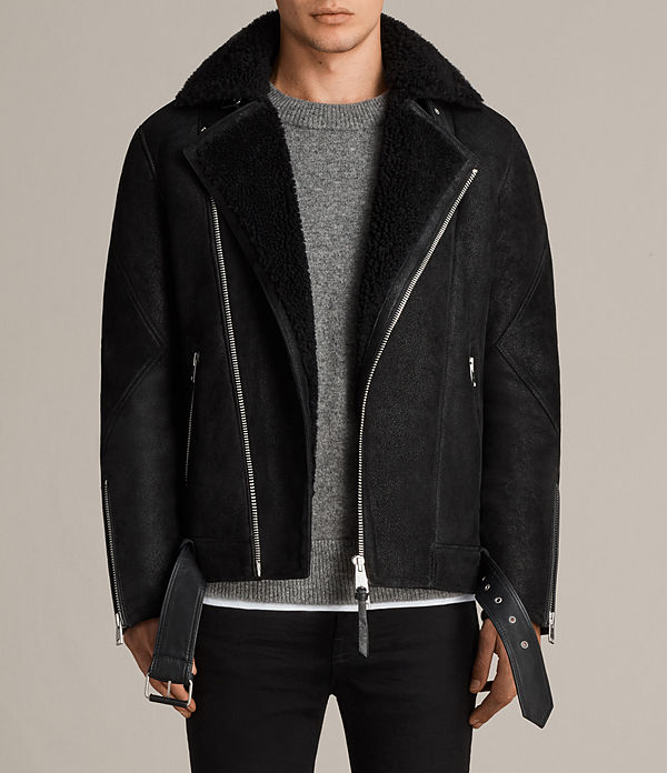 Brooklyn Shearling Biker Jacket