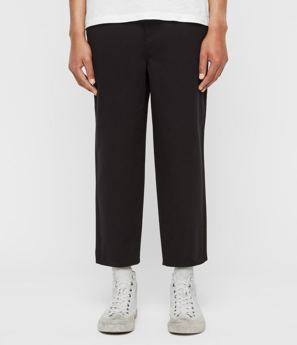 Jute Cropped Wide-Leg Trousers