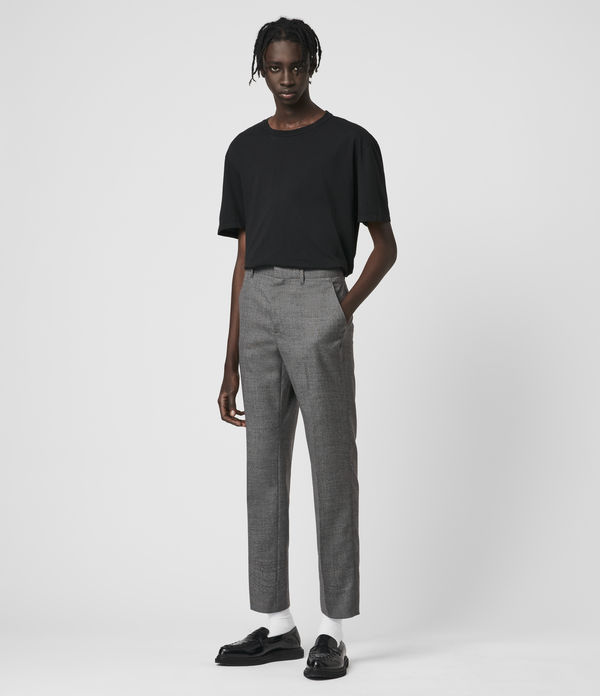 arlow wool cropped slim pants