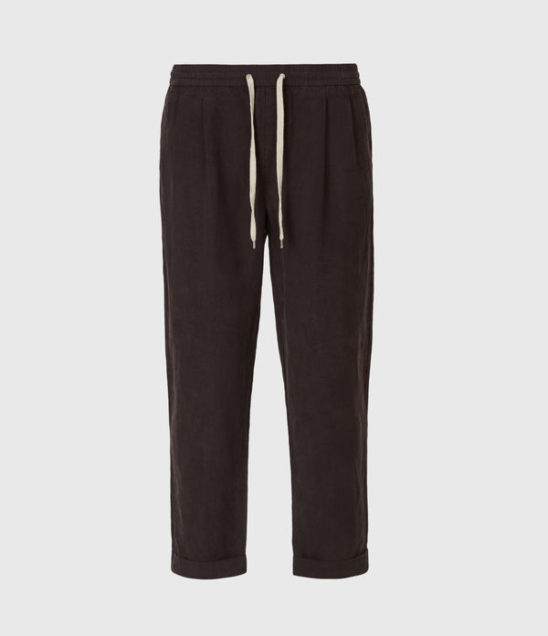 Grove Linen Blend Straight Pants