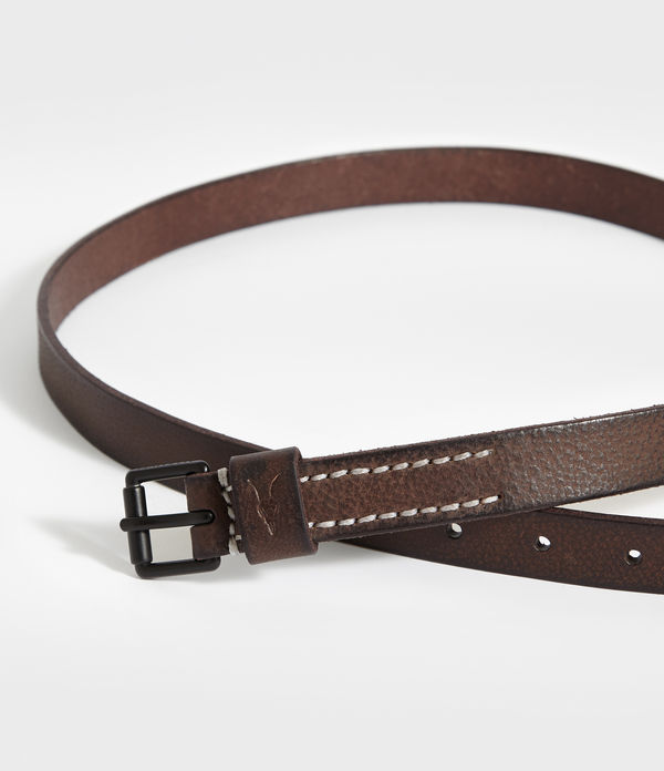 Bevan Slim Leather Belt