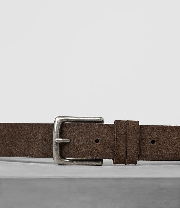 Tract Slim Suede Belt
