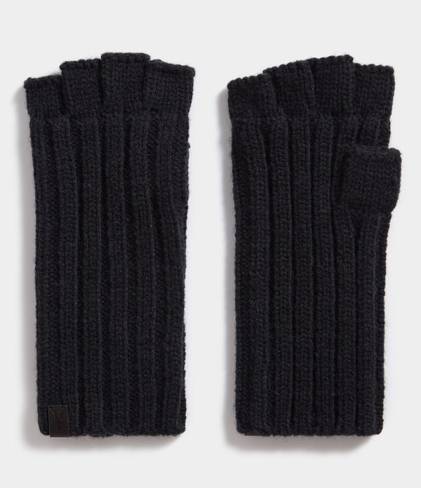 Ribbed Cut Off Fingerless Gloves