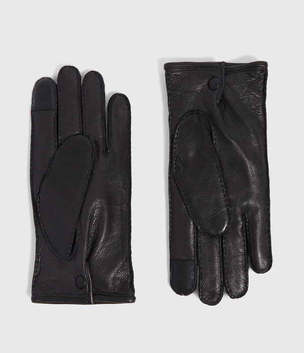Snap Leather Gloves