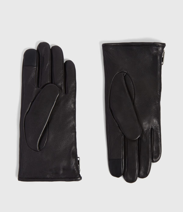 zipper leather gloves