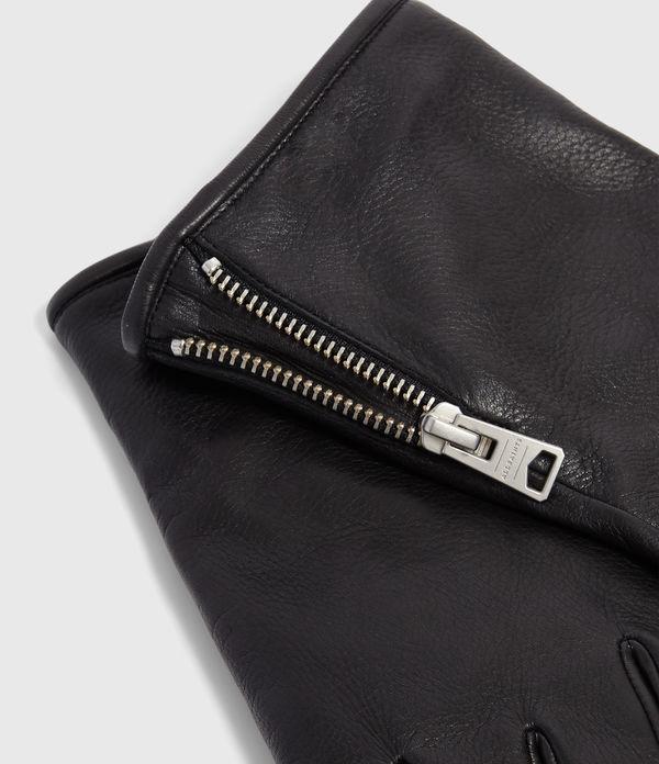 Zipper Leather Gloves