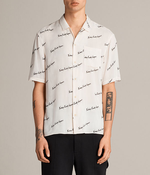 Whiteletter Short Sleeve Shirt