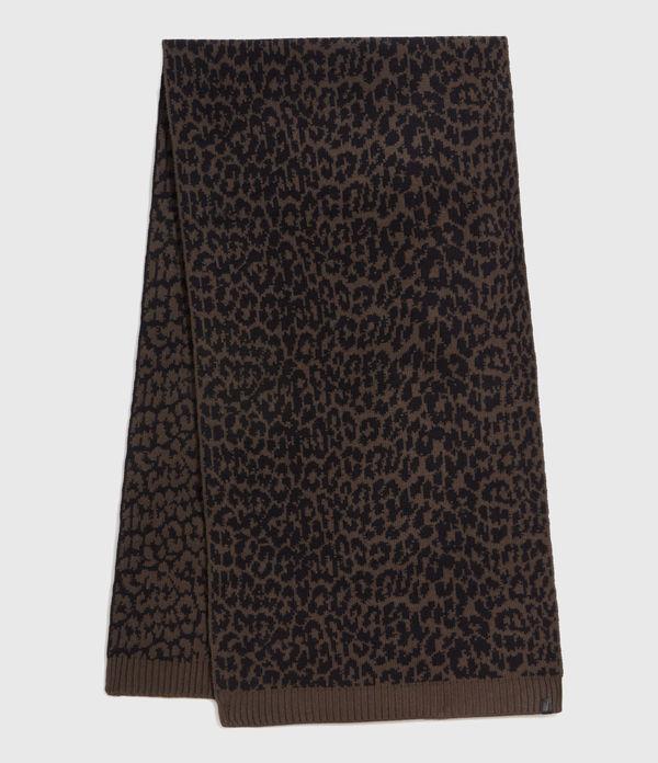 Prowl Jacquard Wool Blend Scarf