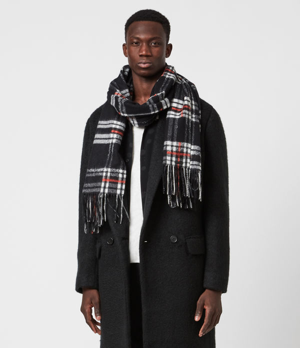 Cheyne Plaid Wool Scarf