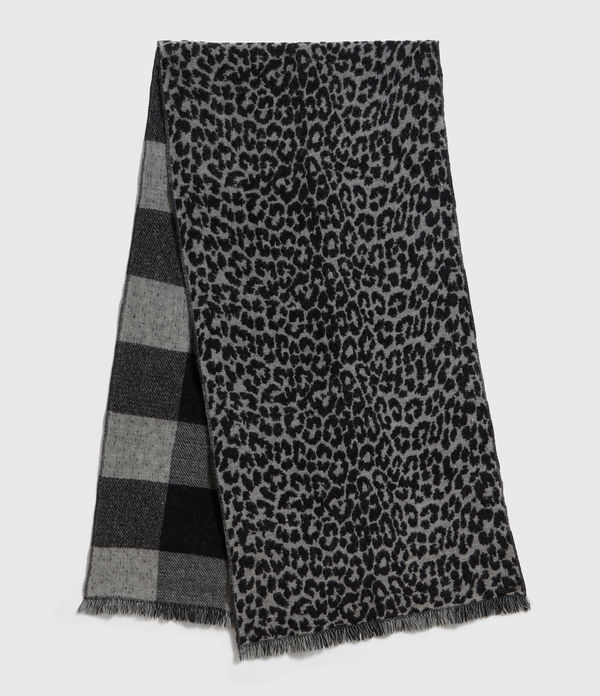 Reversible Prowl Wool Blend Woven Scarf
