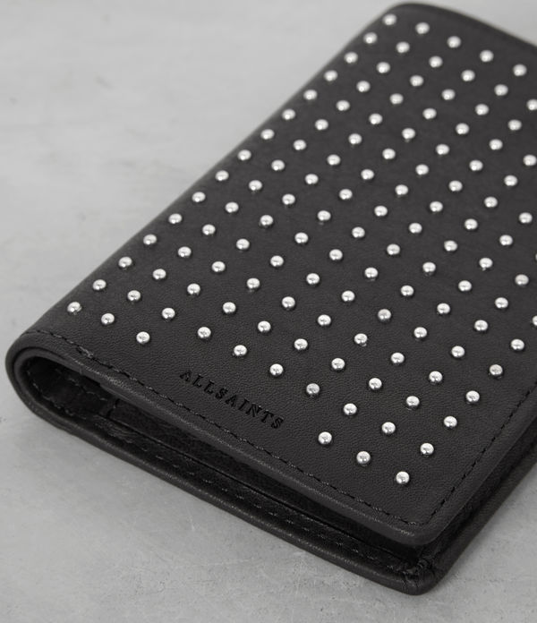 Studded Leather State Wallet