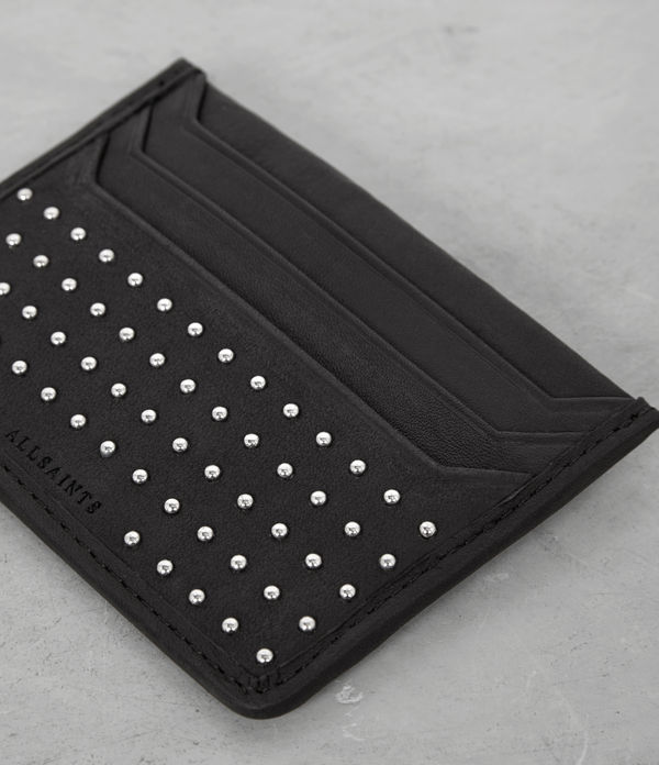 Stud Leather Shard Cardholder