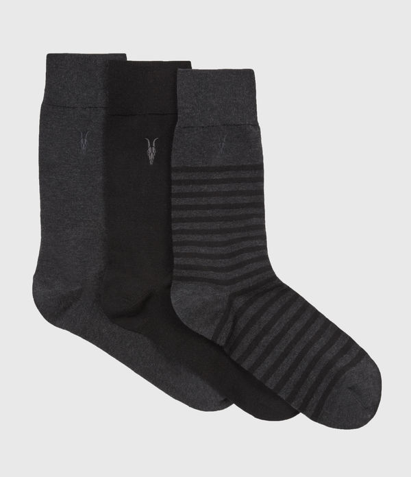 Three Pack Breton Socks