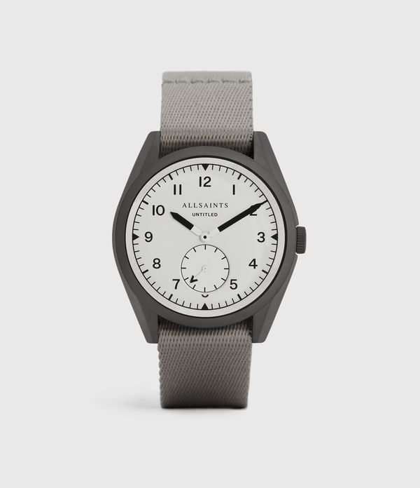 Untitled II Gunmetal Stainless Steel and Nylon Watch