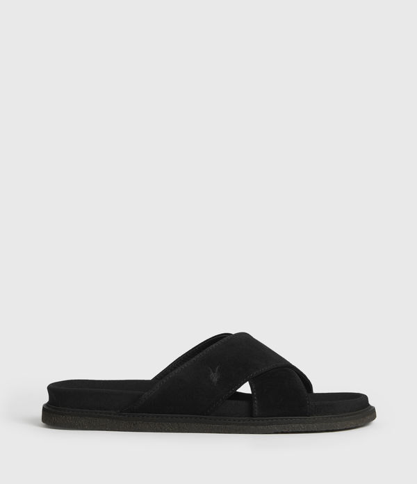 elliot suede slides