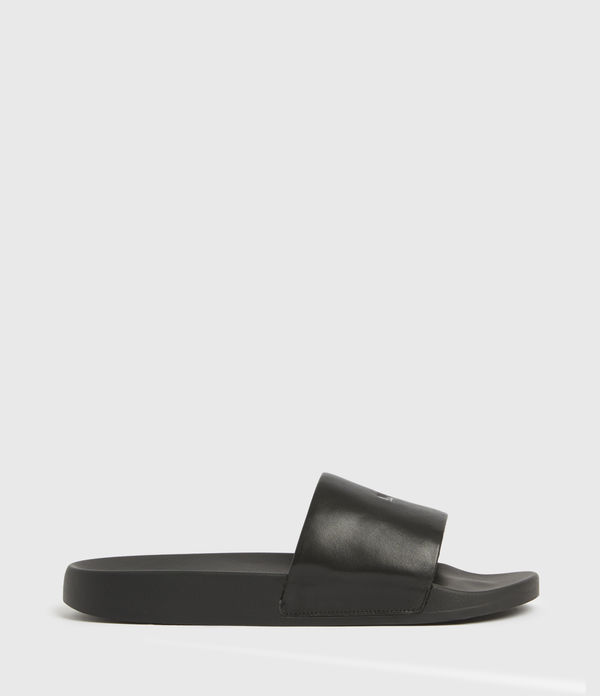 Carmel Leather Sliders