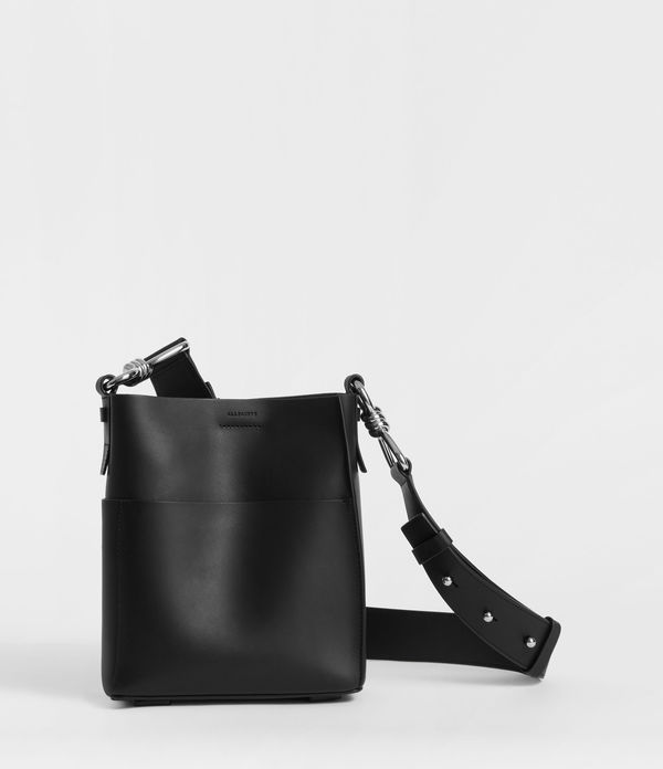 Captain Leather North South Crossbody Bag