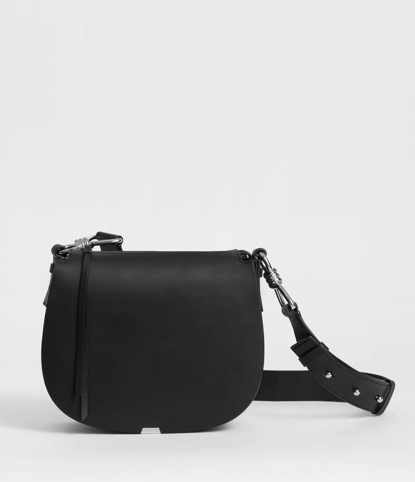 captain leather round crossbody bag