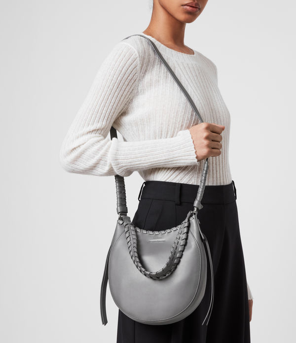 Adina Small Leather Hobo Bag