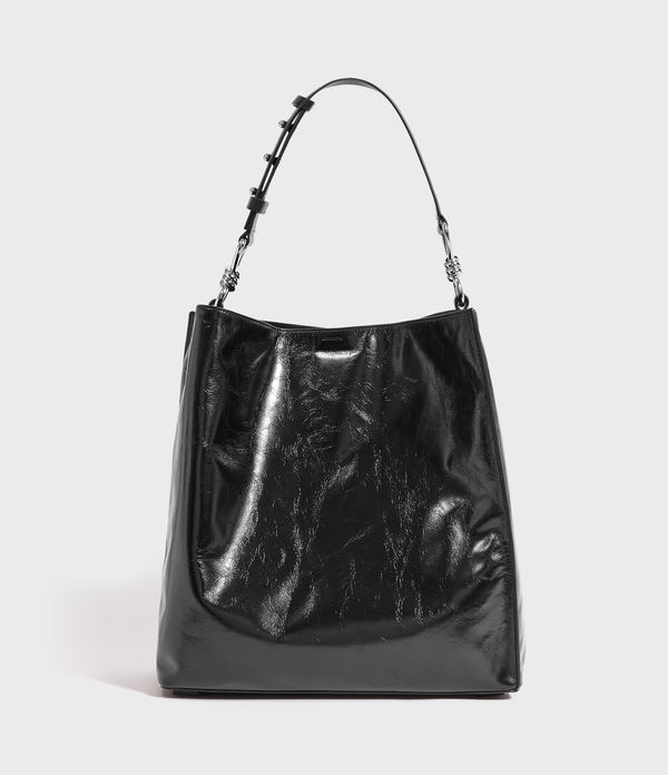 Captain Shiny North South Leather Tote Bag