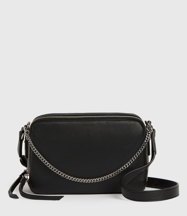 rosemary square leather crossbody bag