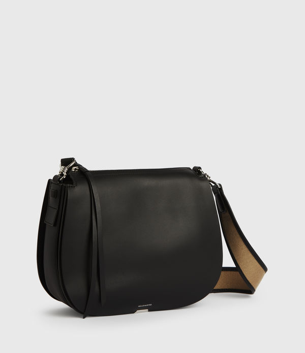 Darcy Round Leather Crossbody Bag