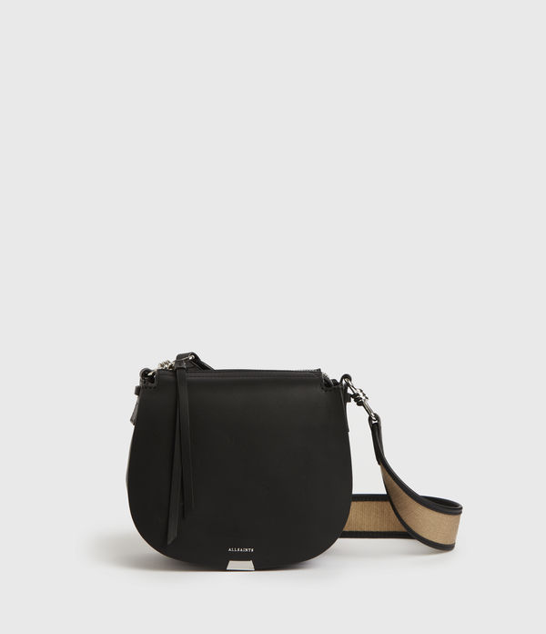 Darcy Small Round Leather Crossbody Bag