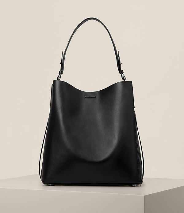 paradise leather north south tote