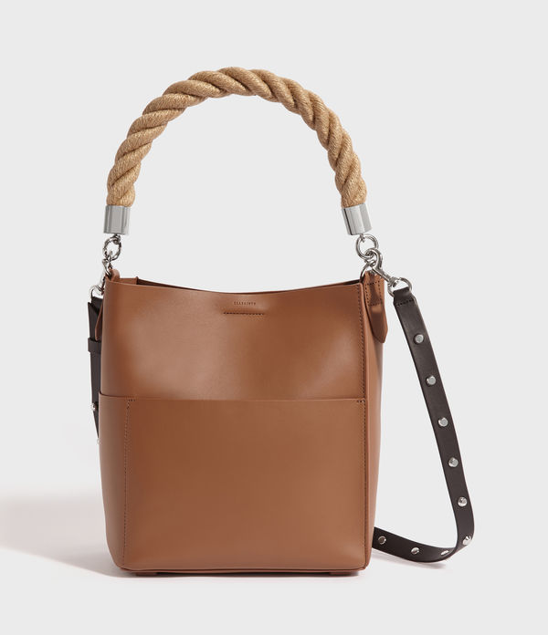 harri leather small north south tote bag
