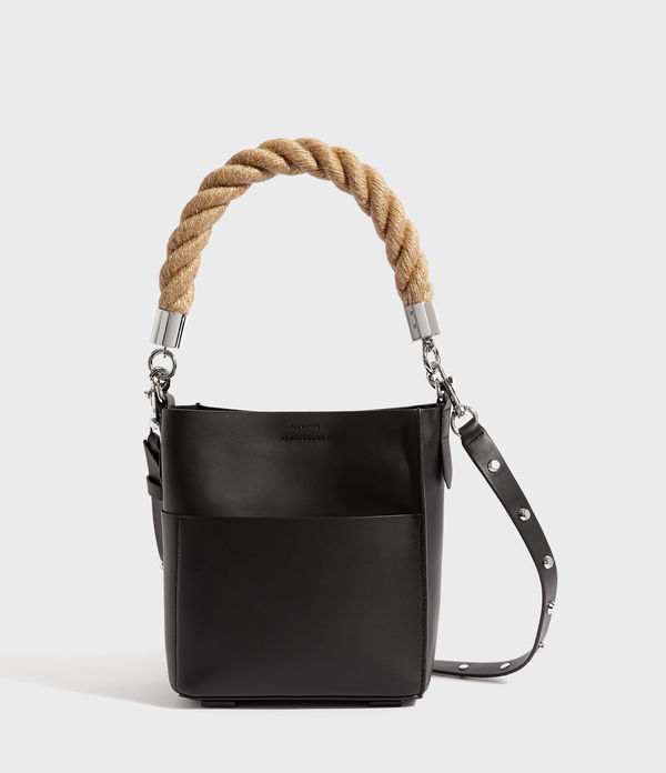 harri leather mini north south tote bag