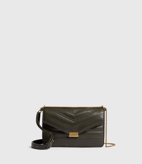 justine small leather crossbody bag