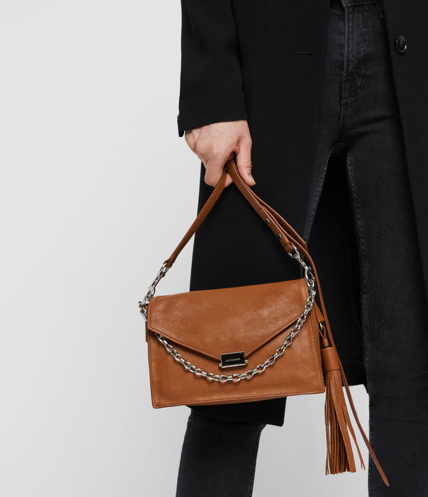 Miki Leather Crossbody Bag