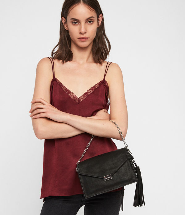 Miki Leather Crossbody Bag