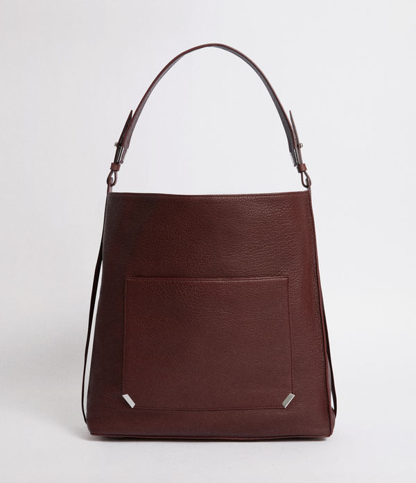 vincent leather north south tote bag