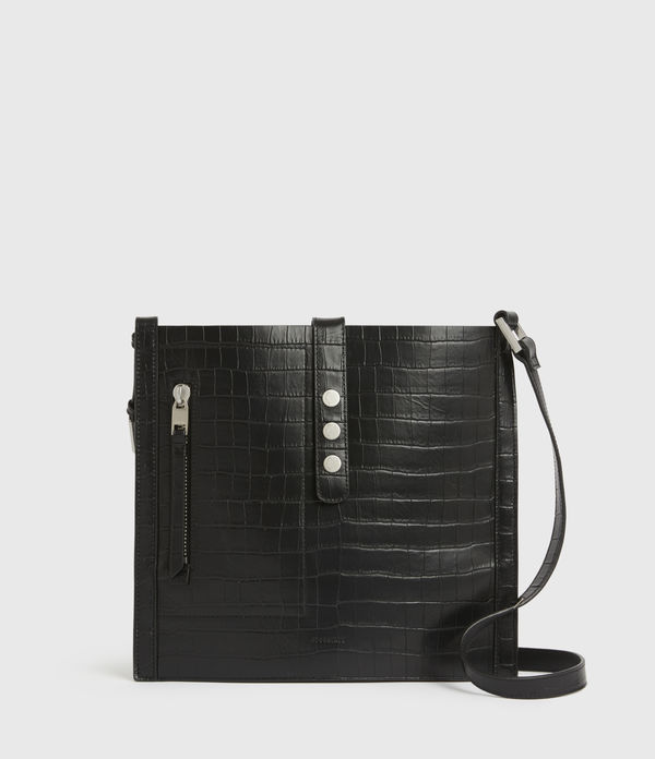 Alexandia Crocodile North South Leather Tote Bag