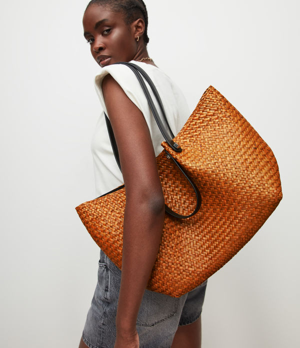 Allington East West Straw Tote